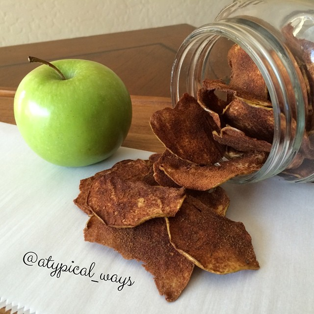 Homemade Cinnamon Apple Chips - so easy!