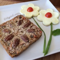 Carrot Cake baked oatmeal with Egg whites!