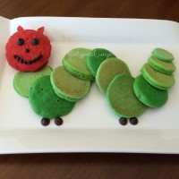 Hungry little caterpillar pancakes