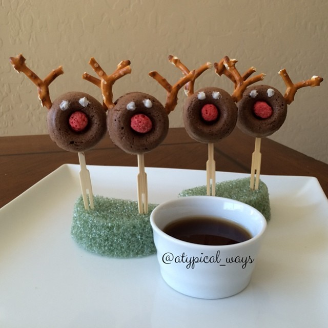 Chocolate donut dippers for my little guy this morning!