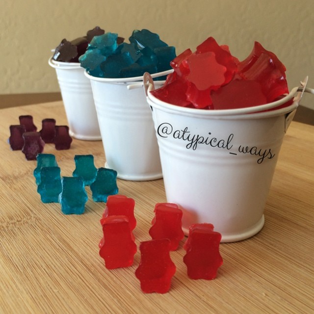 Super easy homemade Gummy Bears!