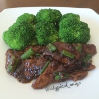 Quick & Simple Mongolian Beef & Broccoli - only 420 calories!