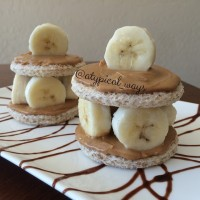 Banana & Peanut Butter Toast Towers!