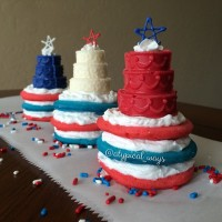 Red, White & Blue Pancake Stacks