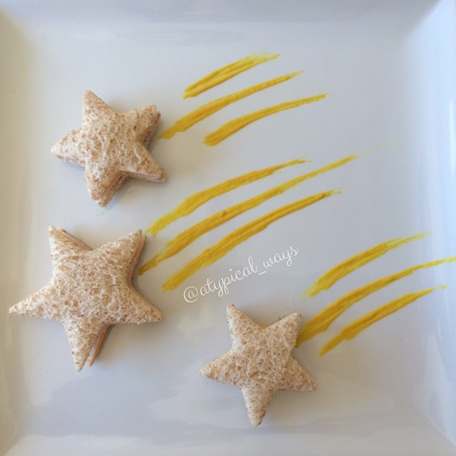 Turkey, Cheese & Mustard Shooting stars