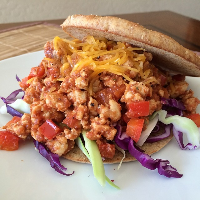 Ground Turkey Sloppy Joe...yum, leftovers at its finest!