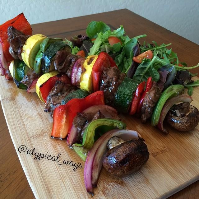 Quick & Simple Grilled Steak Kabobs!