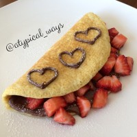 Nutella & Strawberry 'Sweet' Omelette!