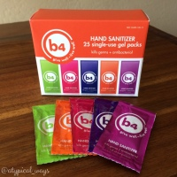 *NEW PRODUCT SPOTLIGHT – b4 Products single-use gel hand sanitizer packs*