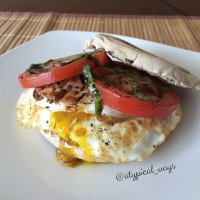 Caprese Egg Sandwich!