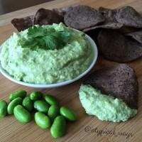 No avocado Guacamole - Edamame Dip! Huge fat reduction with this tasty swap!