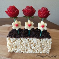 Fun kids 'Flower Box' afternoon snack!