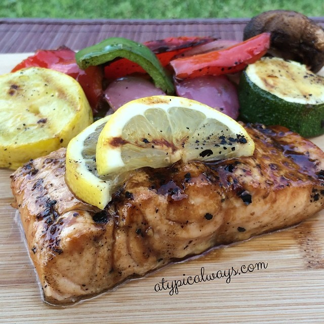 Quick & Simple Grilled Salmon - with a Sweet Glaze!