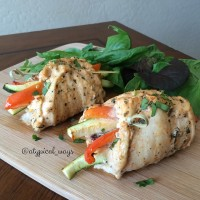 Mediterranean stuffed Chicken Breasts!