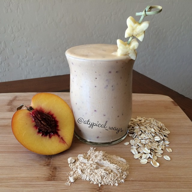 Peach & Oat PROTEIN superfood Smoothie!